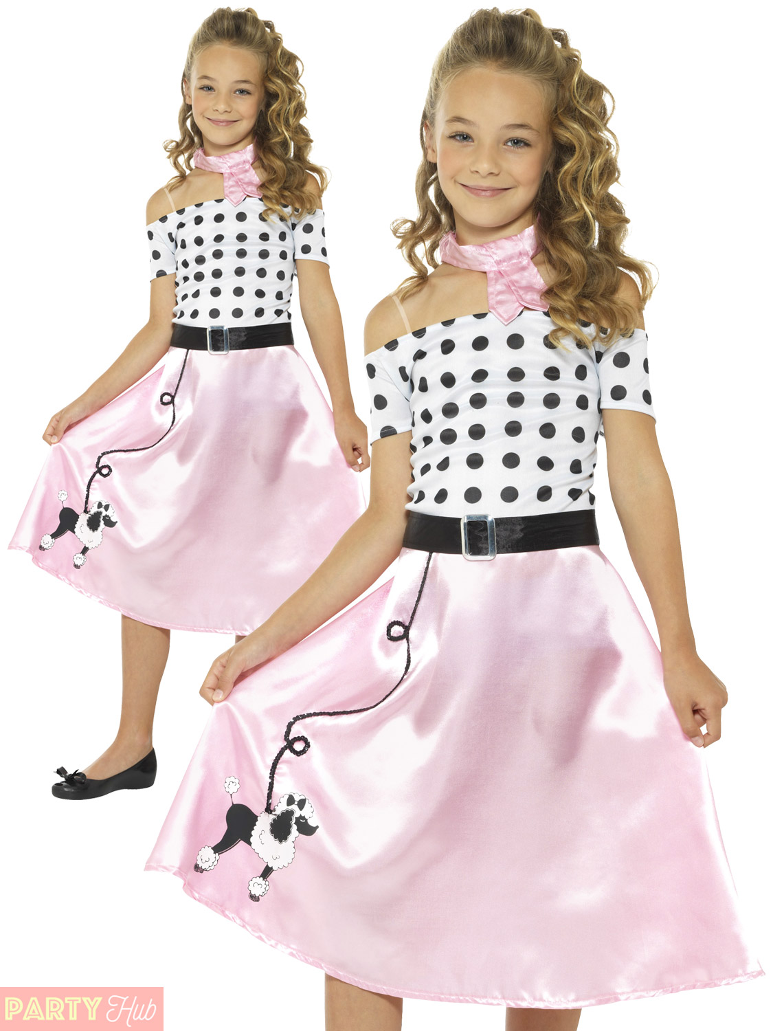 girls 50s poodle girl costume childs rock n roll fancy