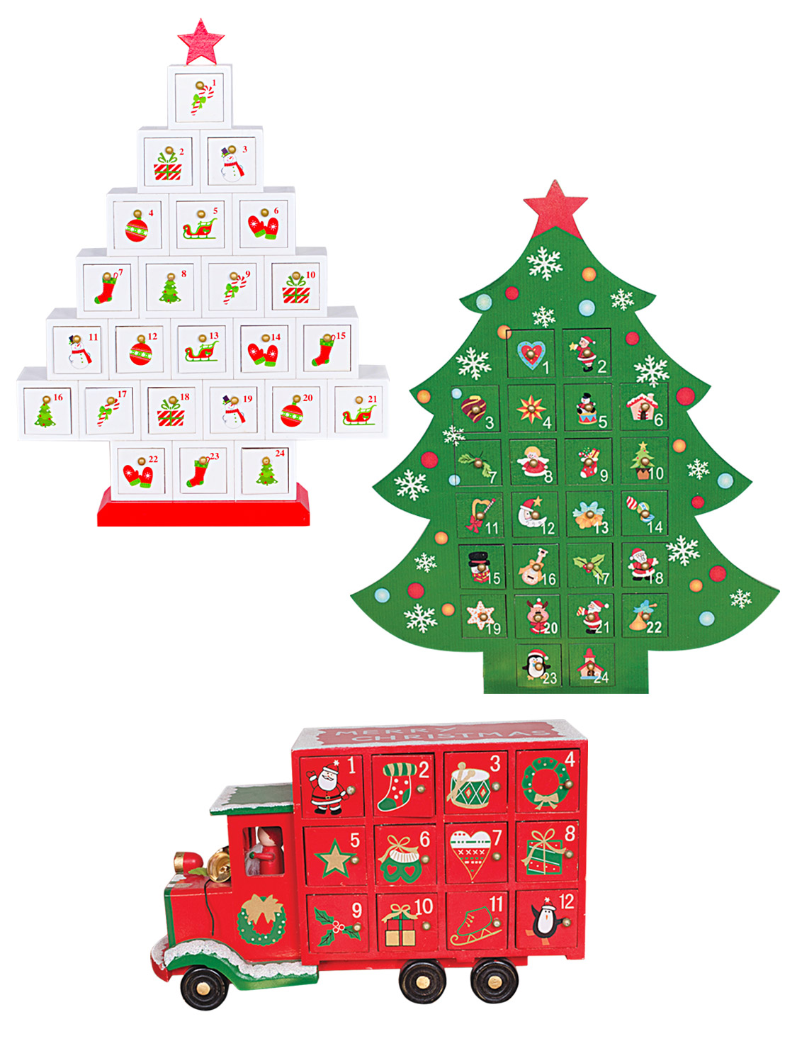 Wooden advent calendar christmas xmas traditional wood for Advent calendar decoration
