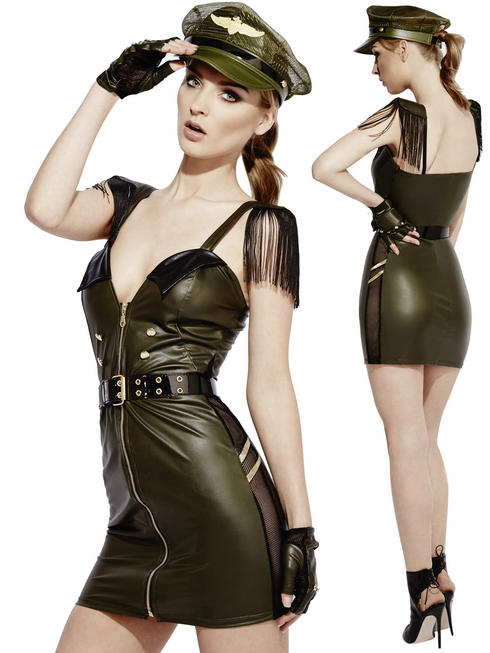 Ladies Fever Miss Behave Military Costume