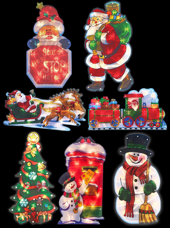 Christmas silhouette light up 20 led window xmas - Led lights decoration ideas ...