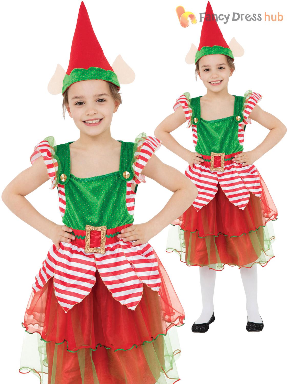 077e5dddfaaa ... s elf costume childs christmas fancy dress kids ...