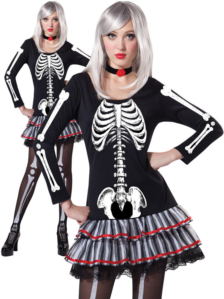 Ladies Skeleton Maiden Costume