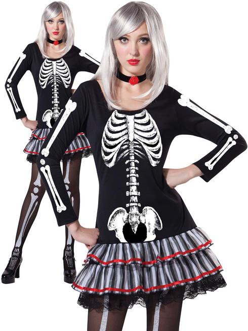 Ladies Skeleton Maiden Costume
