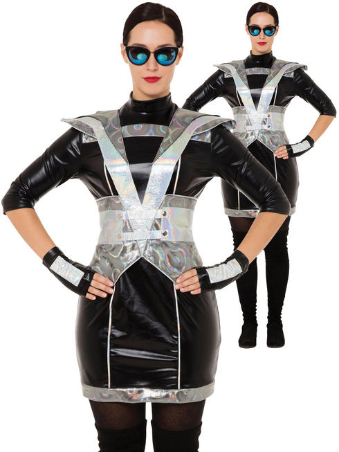 Ladies Futuristic Police Lady Costume