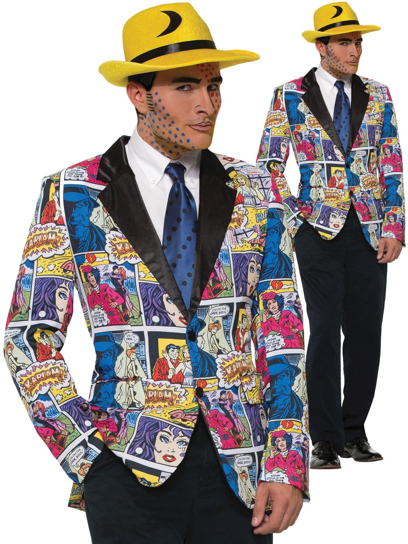 Men S Pop Art Blazer All Mens Fancy Dress Hub