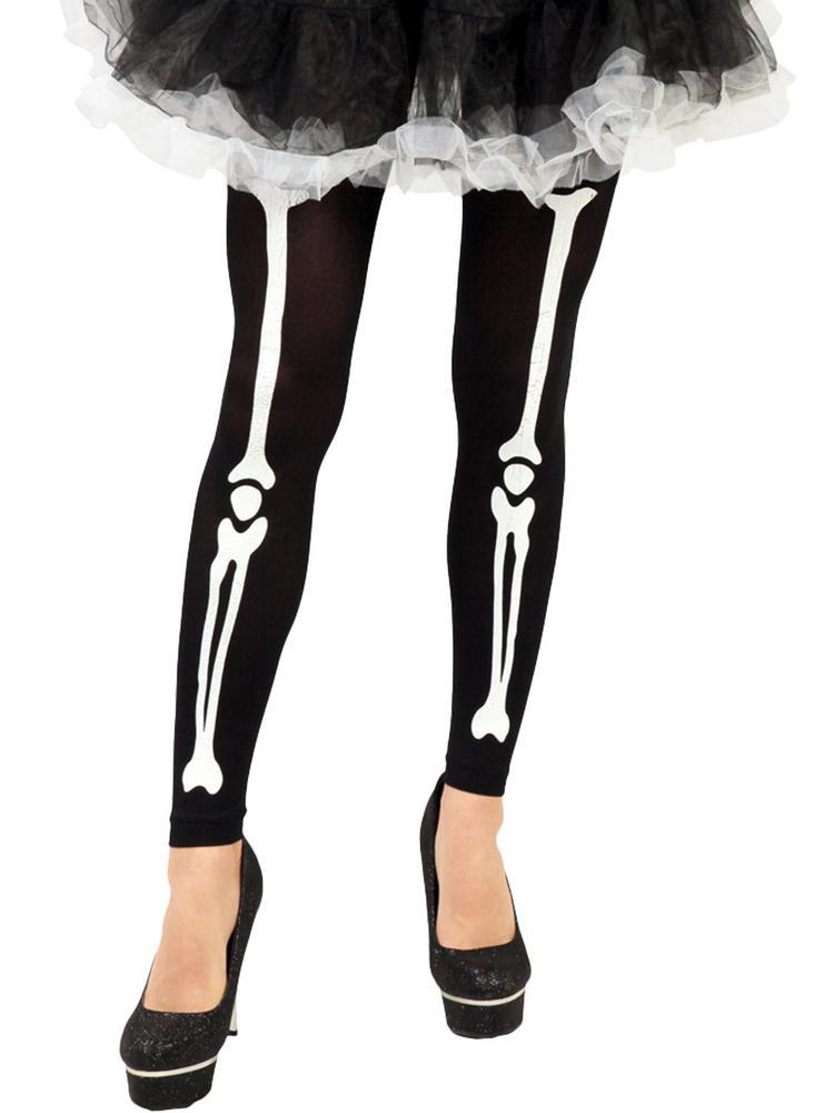 Skeleton Print Tights