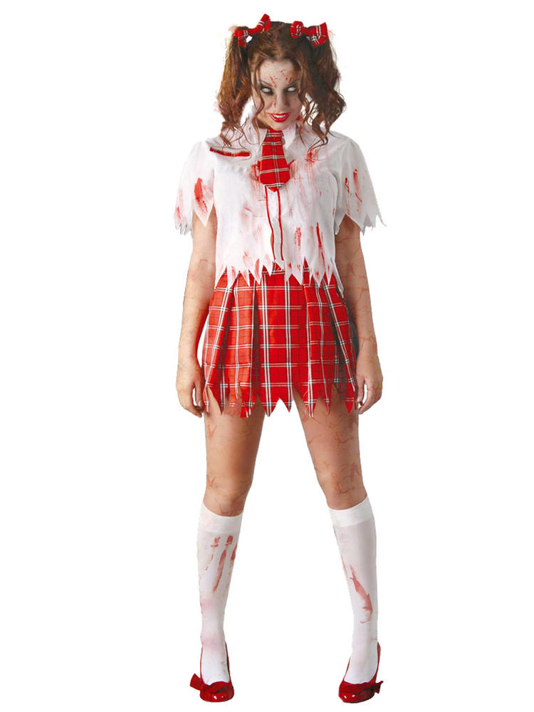 Ladies Zombie School Girl Costume