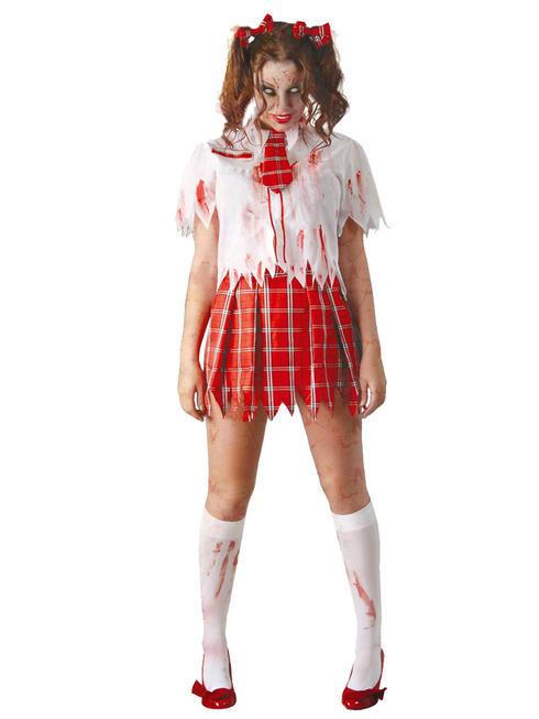 Ladies Zombie School Girl Costume