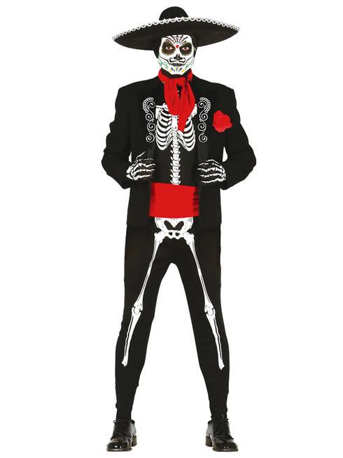 Men's Mexican Skeleton Costume