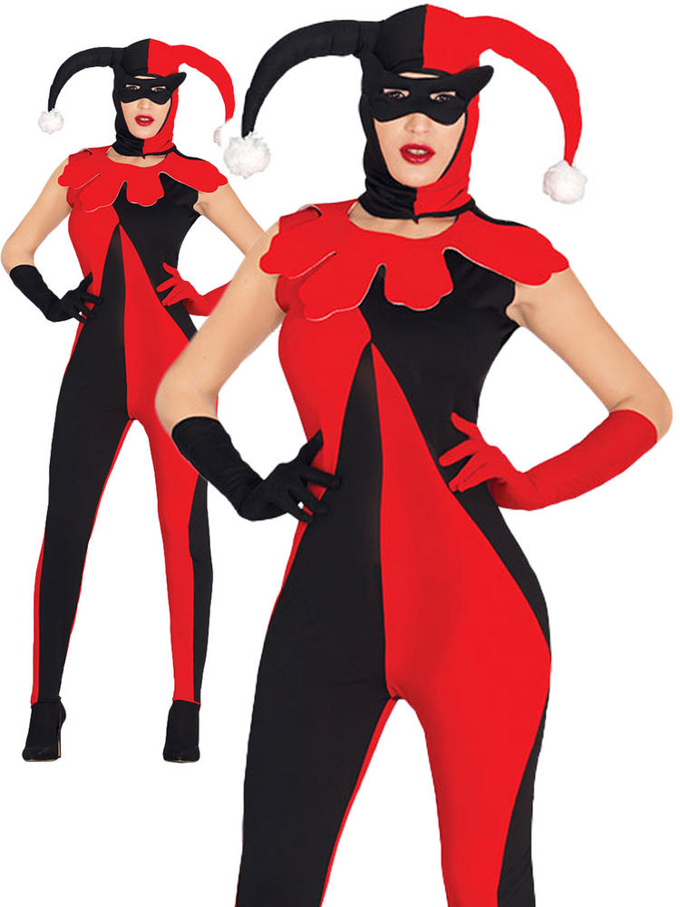 Ladies Joker Catsuit Costume