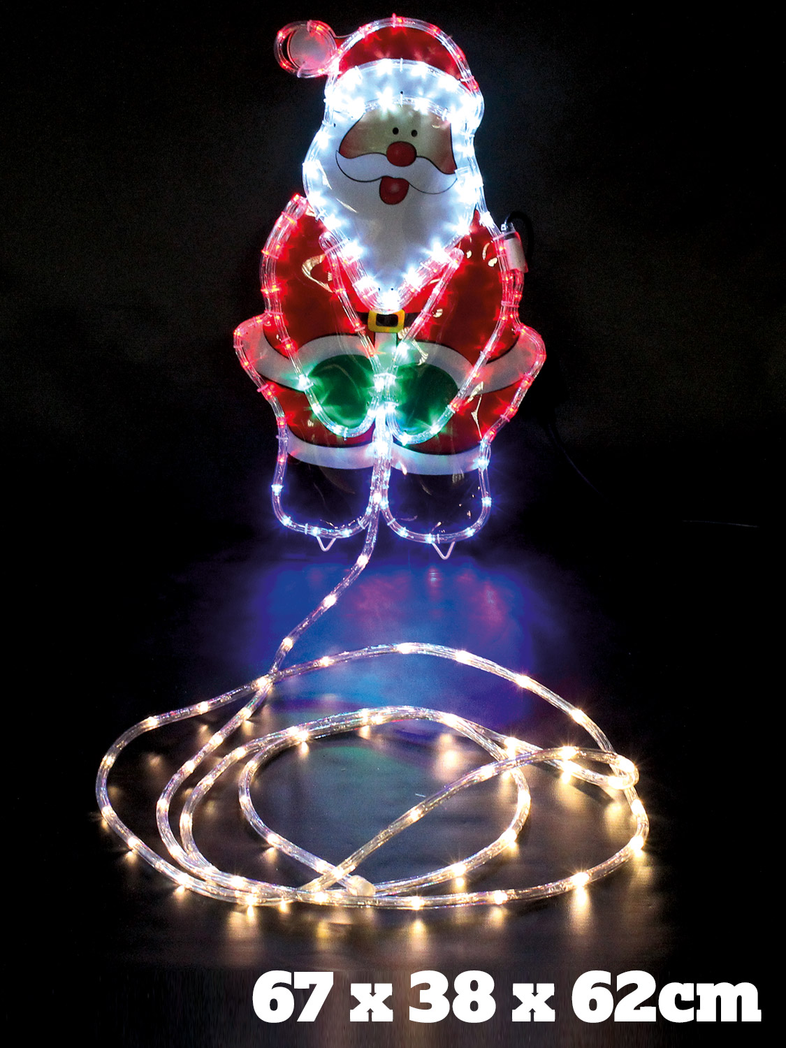 Large christmas rope light outdoor garden decoration xmas flashing large christmas rope light outdoor garden decoration xmas mozeypictures Images