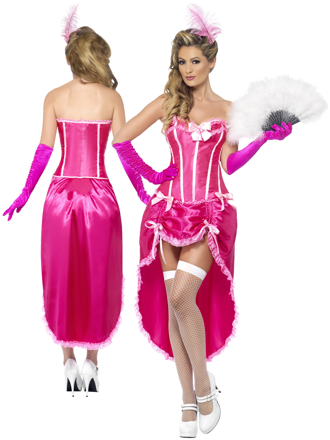 Ladies burlesque dancer costume adults pink can can carnival fancy transform yourself into a beautiful can can dancer with this ladies burlesque dancer costume solutioingenieria Image collections