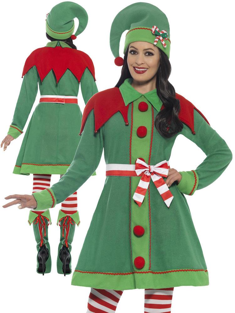 Ladies Deluxe Miss Elf Costume