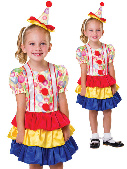Girl's Toddler Cutie Clown Costume