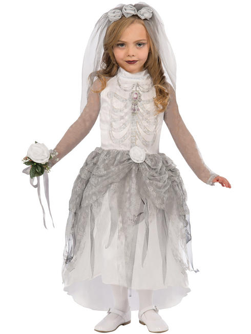 Girl's Skeleton Bride Costume