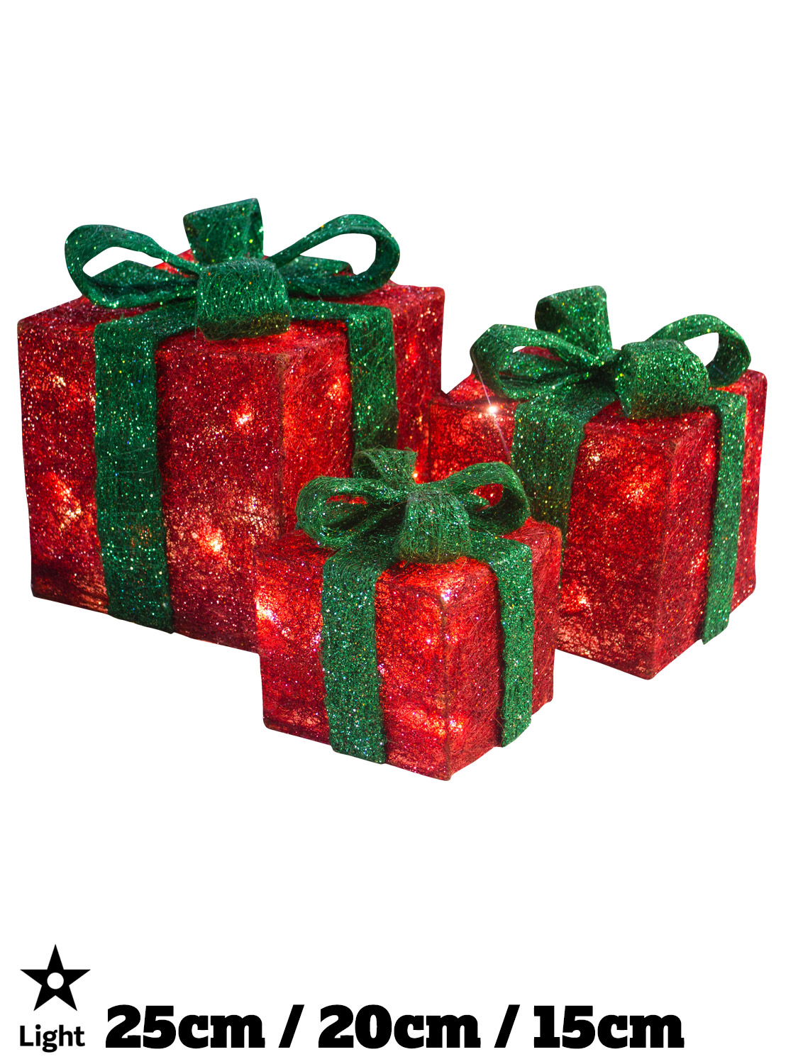 light up gift boxes presents set of 3