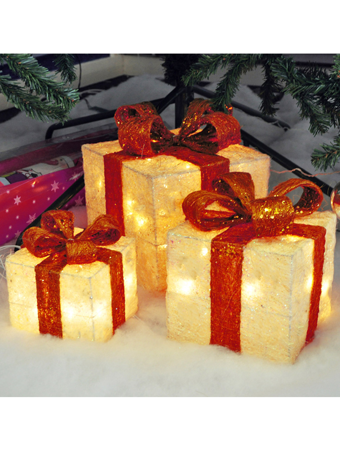Christmas Light Up Gift Boxes