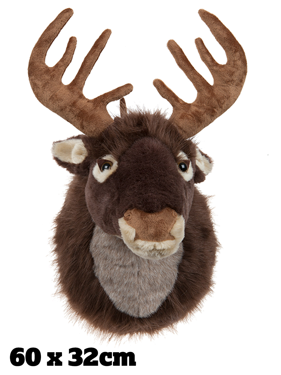 Singing reindeer head stag motion activated door mounted for Decoration porte renne