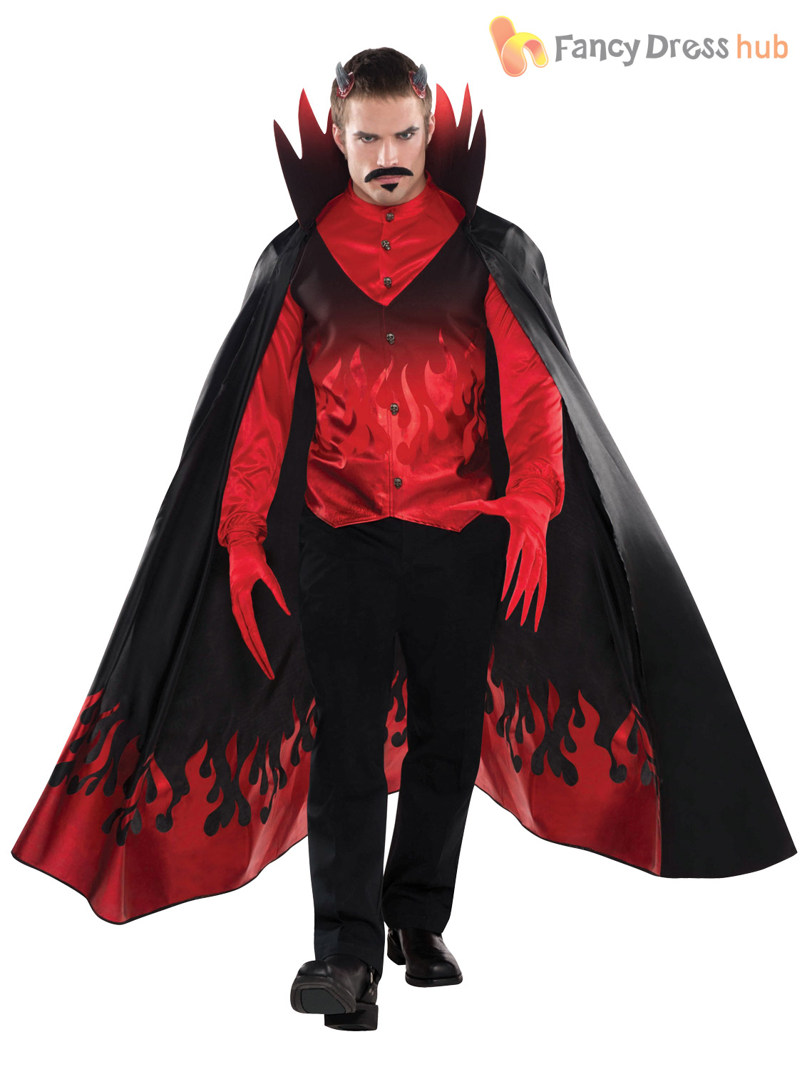 mens diablo costume adults satan halloween fancy dress demon devil