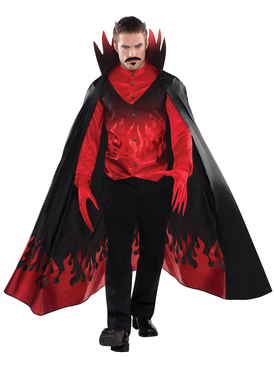 Mens diablo costume adults satan halloween fancy dress demon devil transform yourself into a devil with this mens evil diablo devil costume ideal if you are dressing up this halloween solutioingenieria Image collections