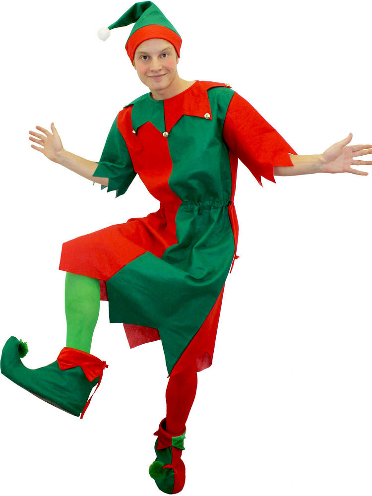 Adult S Elf Costume Tunic And Hat All Christmas
