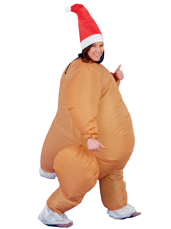 Inflatable christmas costume hat santa suit turkey