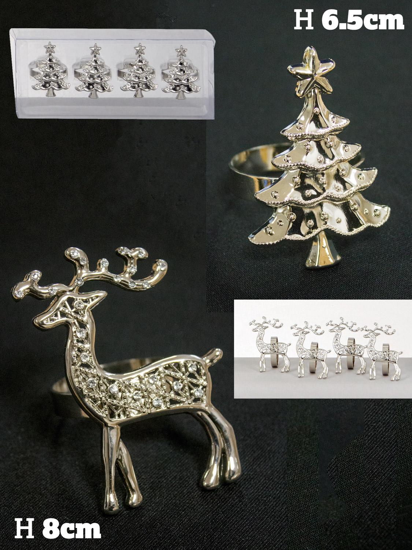 Christmas metal napkin ring holder dinner party xmas table