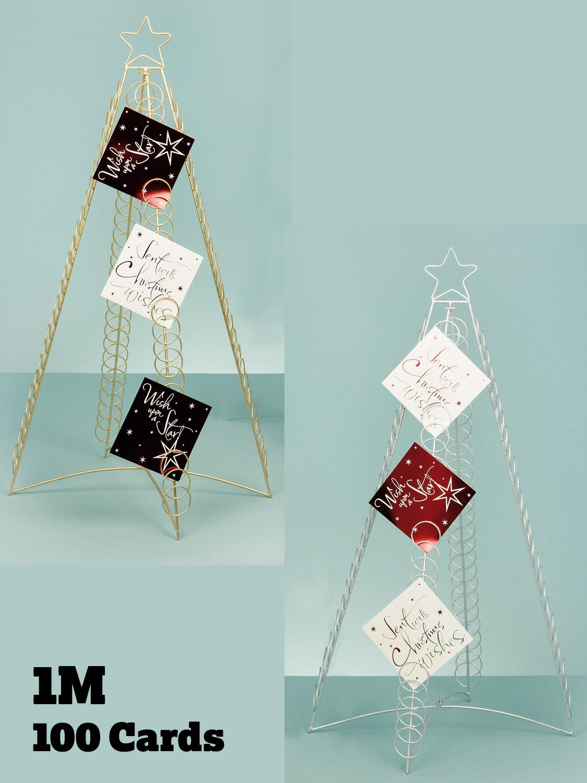 Christmas Card Holder Standing Metal Tree Shaped ...