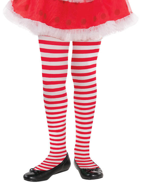 Girls Candy Striped Tights