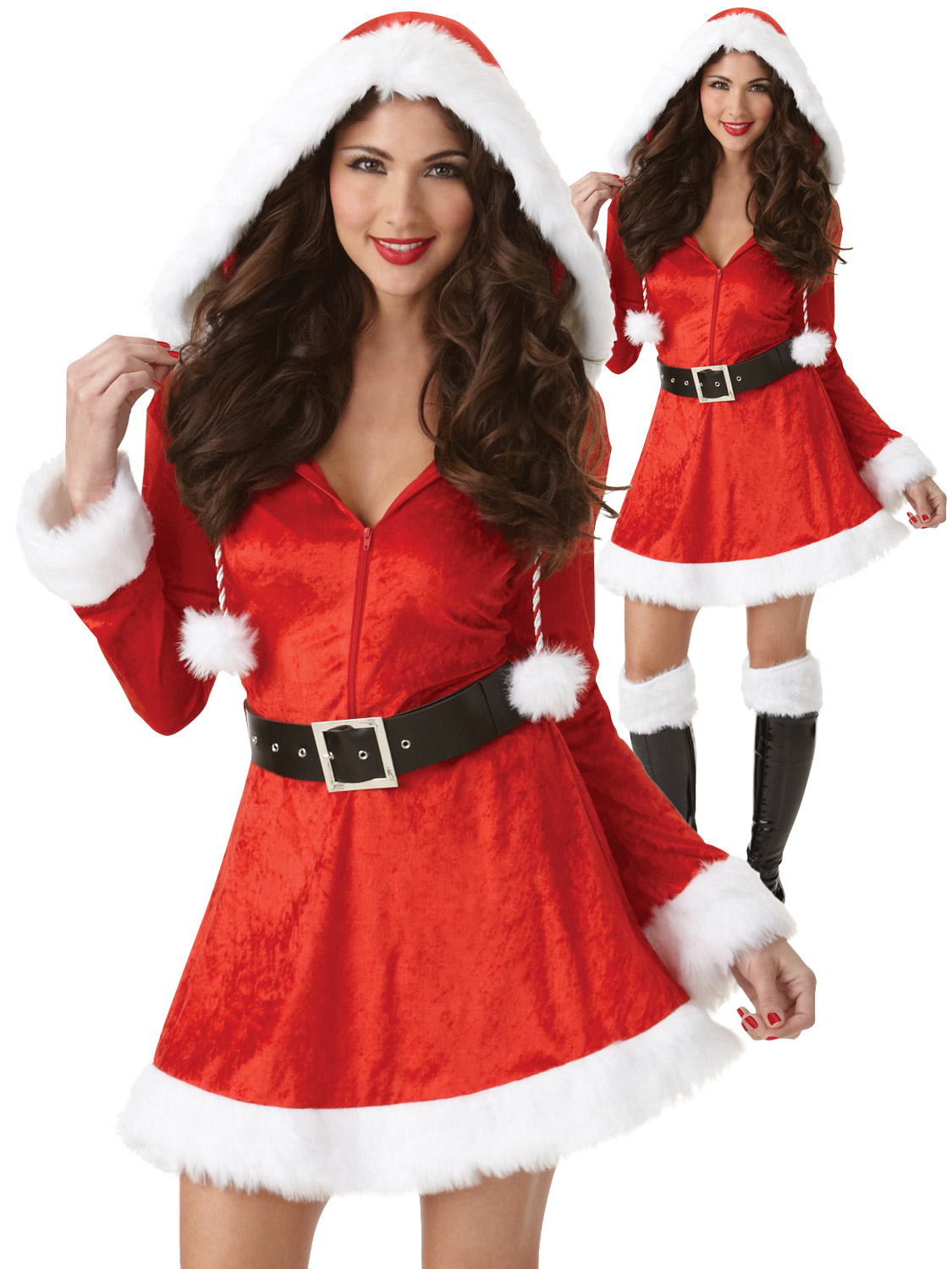 Ladies santa costume sexy adult mrs father christmas fancy dress transform yourself in to a sexy mrs claus with this ladies sassy santa costume ideal if you are dressing up for a christmas party solutioingenieria Images