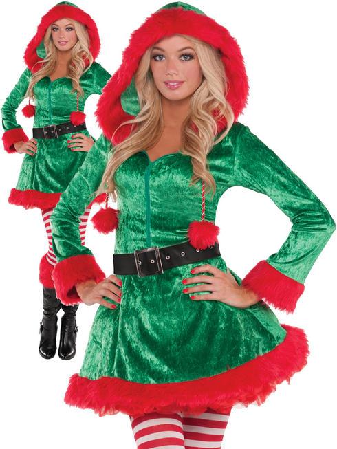 Ladies Sassy Elf Costume