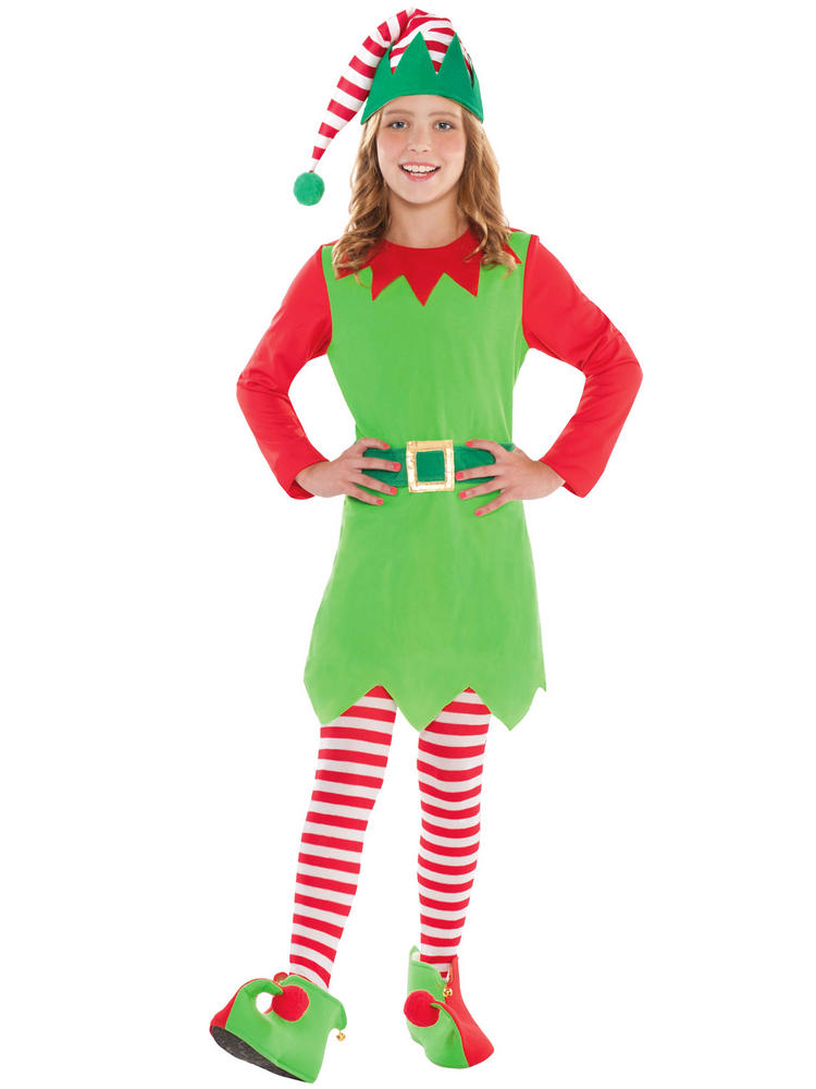 Girls Merry Elf Costume All Children Fancy Dress Hub