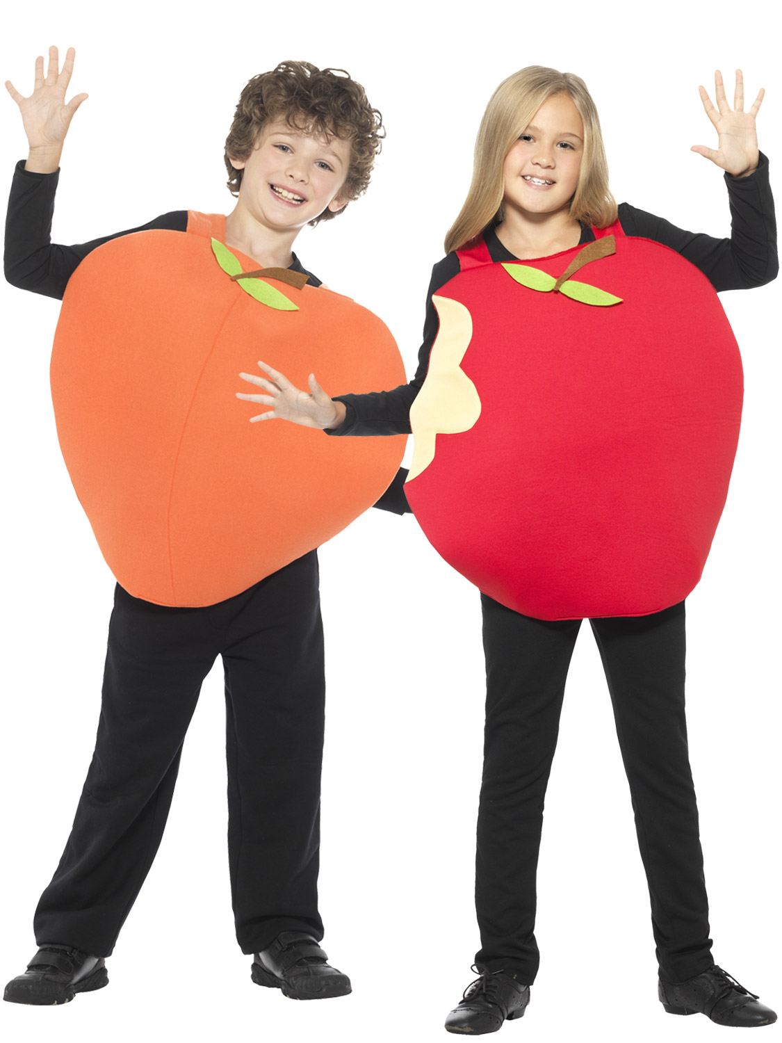 Smiffy/'s Childs Apple Or Peach Tabard Healthy Fruit Book Day Fancy Dress Costume