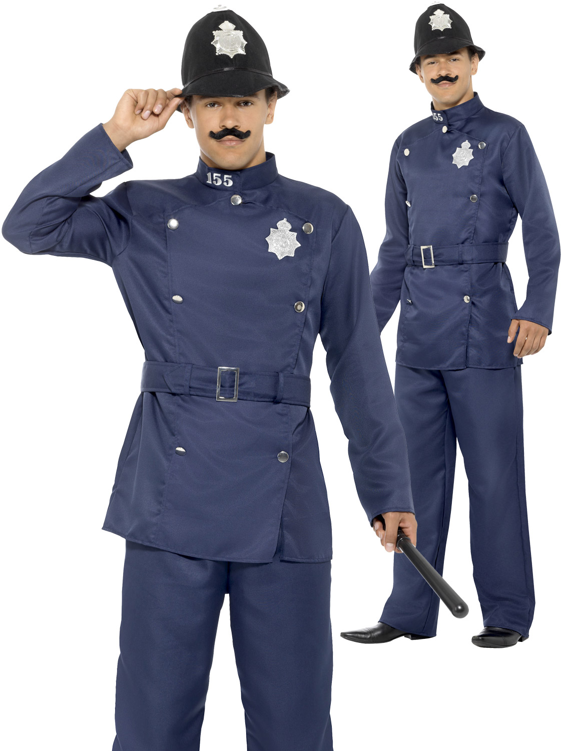 Mens London Bobby Costume Adult Policeman Uniform Fancy