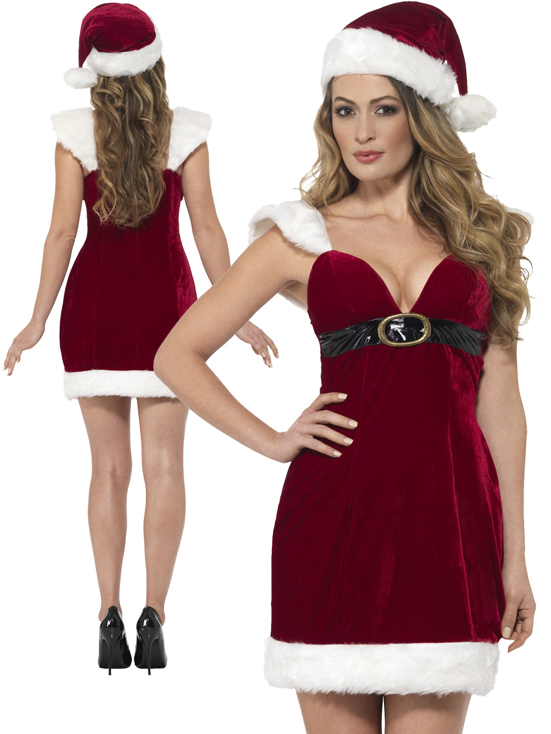 Ladies santa costume adult sexy miss christmas fancy dress womens transform yourself into a sexy mrs claus with this ladies miss santa costume ideal if you are dressing up for a christmas party solutioingenieria Images