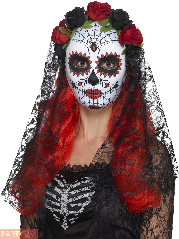 Day-of-the-Dead-Mask-Adults-Halloween-Sugar-Skull-Fancy-Dress-Accessory-Skeleton