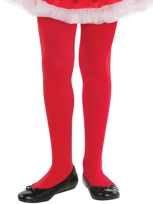 Girls Red Tights