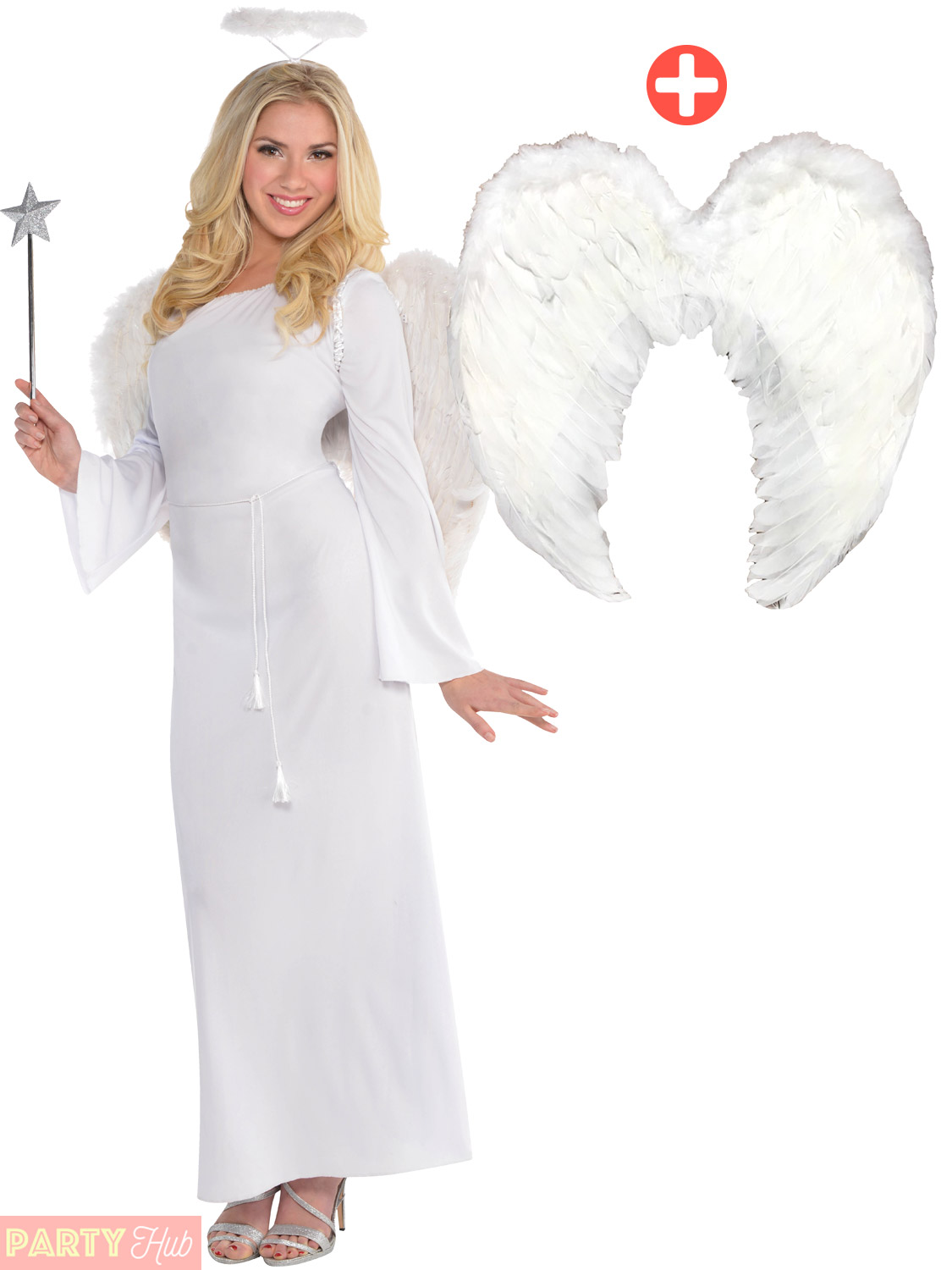 Details about Ladies Angel Costume Adults Christmas Nativity Fancy Dress  Womens Heaven Outfit