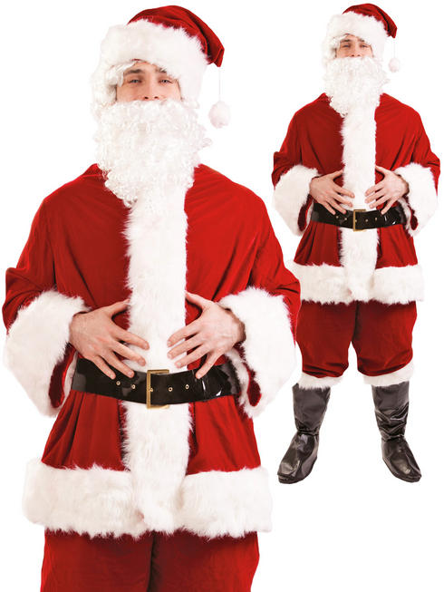 Men's Plush Santa Suit