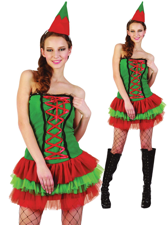 Ladies christmas elf costume adults sexy santas helper fancy dress transform yourself into santas helper with this ladies sexy christmas elf costume solutioingenieria Gallery