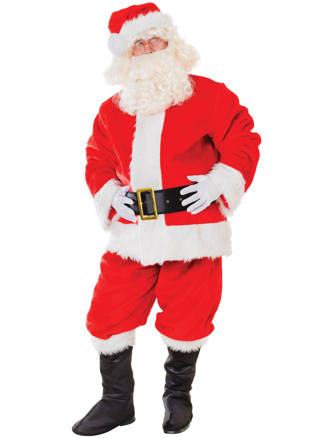 Adults deluxe santa claus costume mens father christmas fancy dress transform yourself into father christmas with mens deluxe plush santa suit solutioingenieria