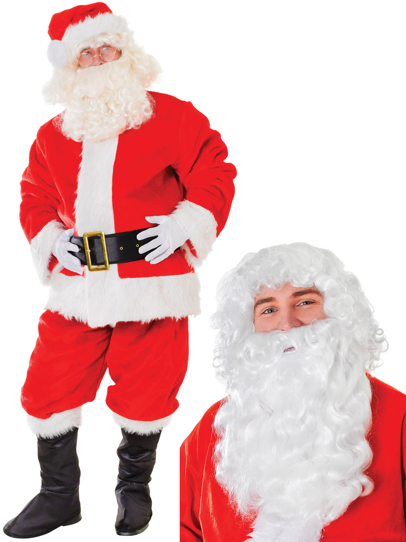 305ba7cd82016 Men s Deluxe Plush Santa Suit