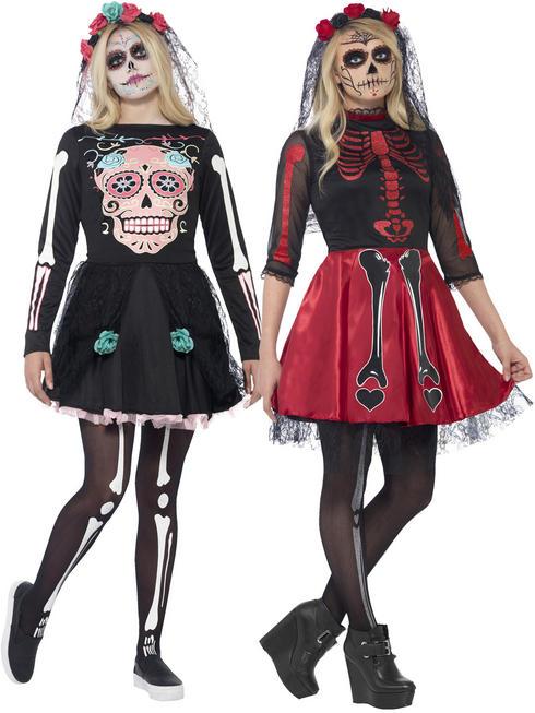 Ladies Sugar Skull Sweetie Costume
