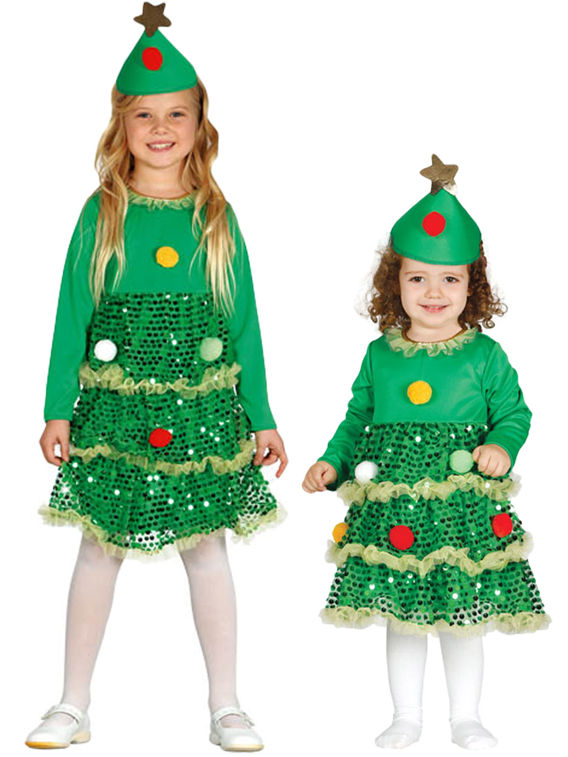 Girls christmas tree costume childs toddler xmas fancy
