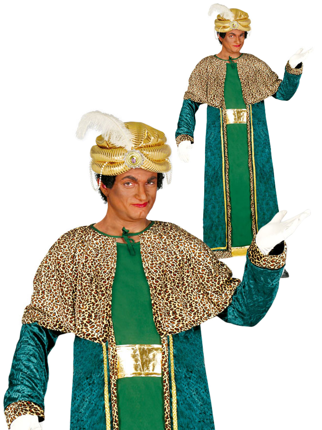 wise Mens man costume green