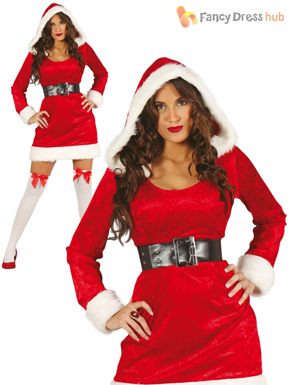 c506ef6e7f687 Ladies Mrs Claus Miss Santa Costume Father Christmas Fancy Dress ...