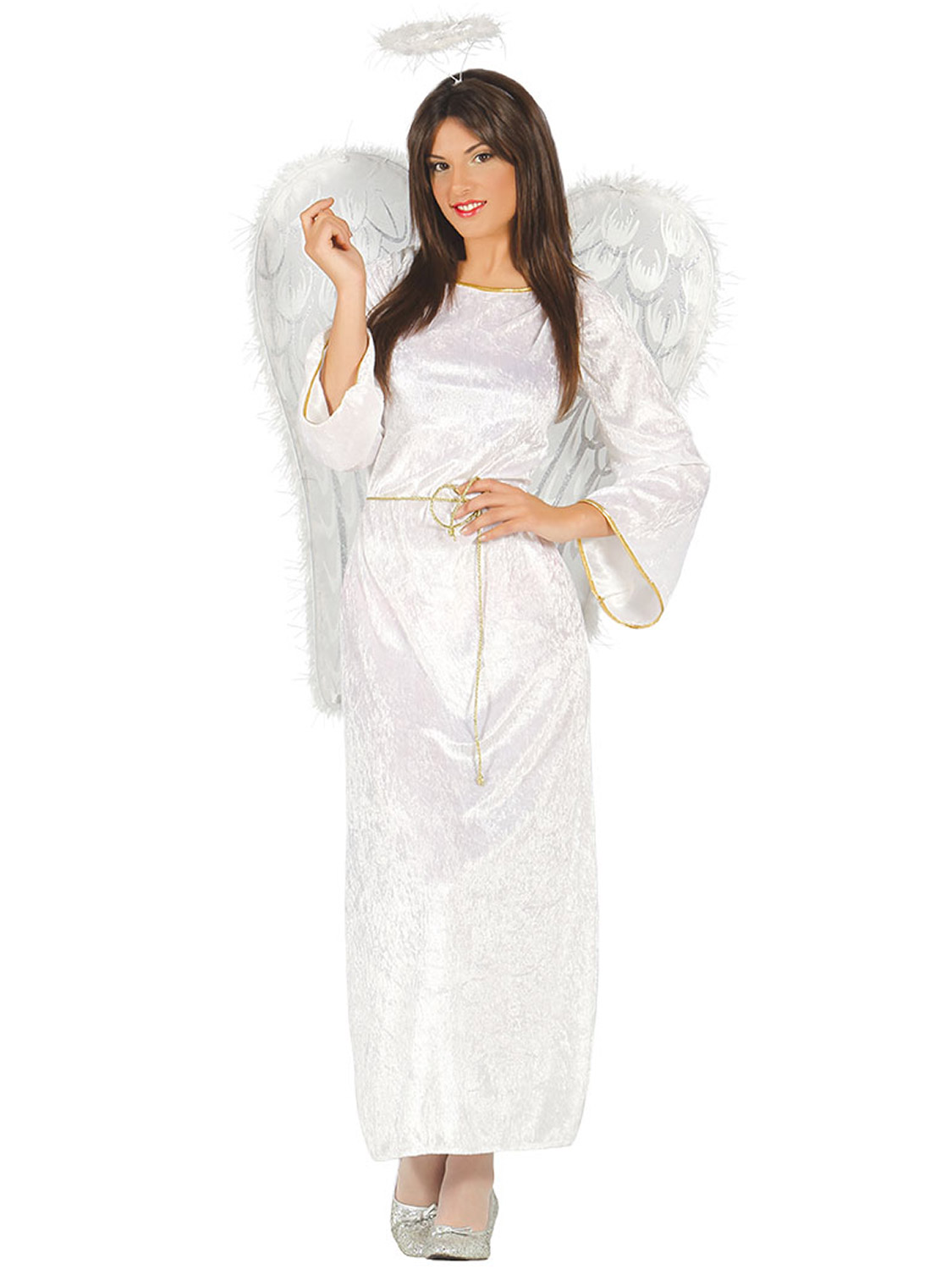 Ladies angel costume adults christmas nativity fancy dress womens transform yourself into a beautiful angel with this ladies elegant christmas costume ideal if are dressing up for christmas solutioingenieria Gallery