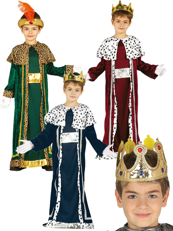 BOYS KING WISE MAN CHRISTMAS FANCY DRESS KIDS NATIVITY PLAY Xmas OUTFIT