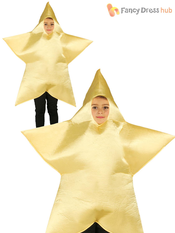 Childs Christmas Star Costume Boys Girls Xmas Nativity Play Fancy ...