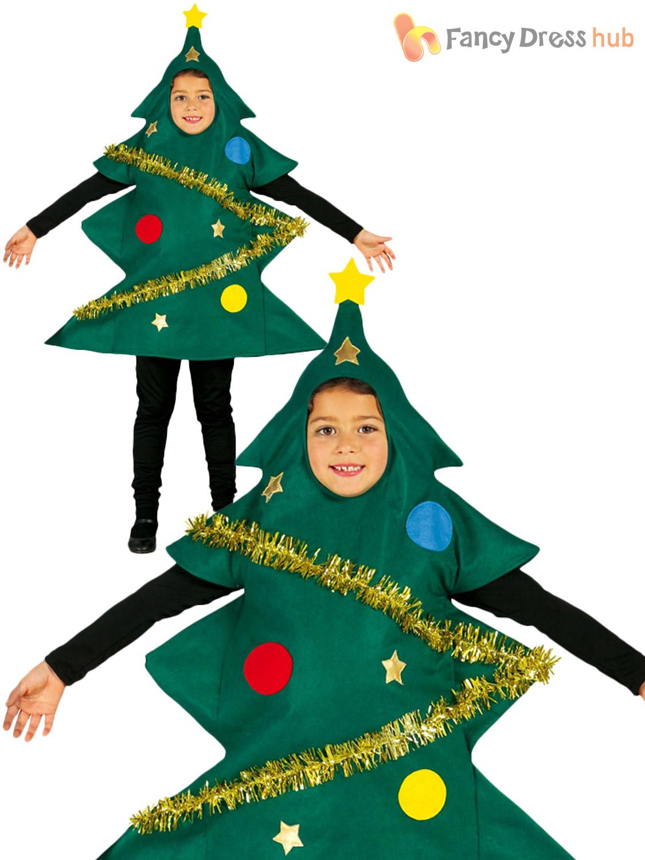 Childs Christmas Tree Costume Boys Girls Novelty Xmas ...